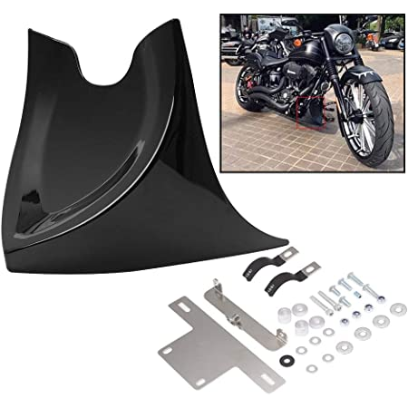 Matte Black ABS Front Chin Spoiler Fairing Fit for Harley Dyna Street Bob 06-17