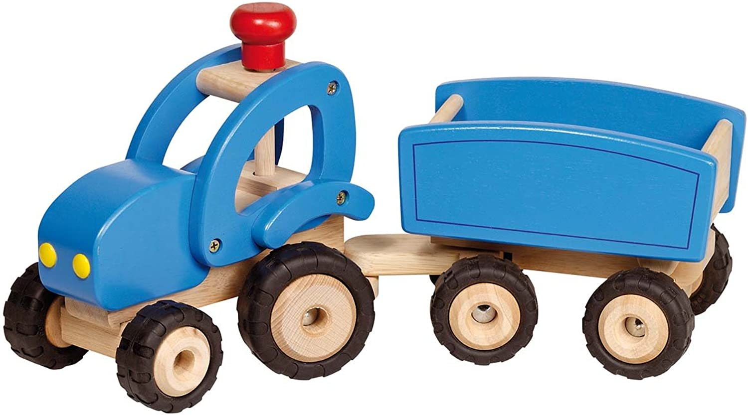 Goki Tractor with Trailer Toddler Toy