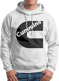 XINSHOUS Black Cummins Men's Pullover Hooded Sweatshirt