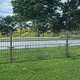 UnfadeMemory Valla Jardin Metalica con Postes,Panel de...