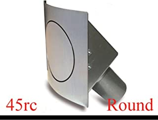 Hagan Street Rods 45RC Round Fuel Door with Curved Surface
