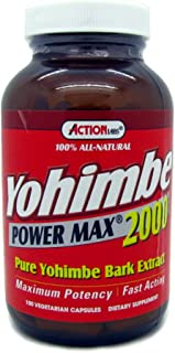 Yohimbe Power Max 2000 for Men Natural Balance 100 Caps