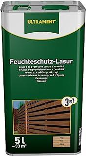 Ultrament Feuchteschutz-Lasur 3-in-1, nussbaum, 5l