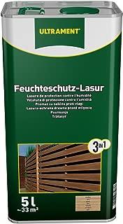 Ultrament 68248980195208 - Barniz de protección total 3 en 1 para madera, color teca (5 L)