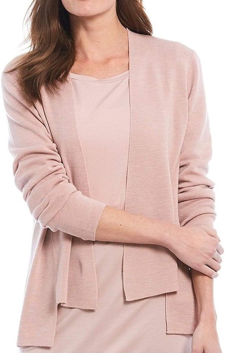 Eileen Fisher Sugarplum Extra Fine Merino Wool Shaped Cardigan Size XL MSRP $228