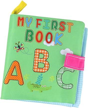 MagiDeal Libro de Aprendizaje para Bebés de Paño Lengua,Lingüística Redacción DIY - # 2 ABC