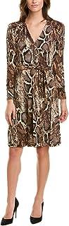 Donna Morgan womens Long Sleeve Self Tie Snake Print Matte Jersey Dress Dress