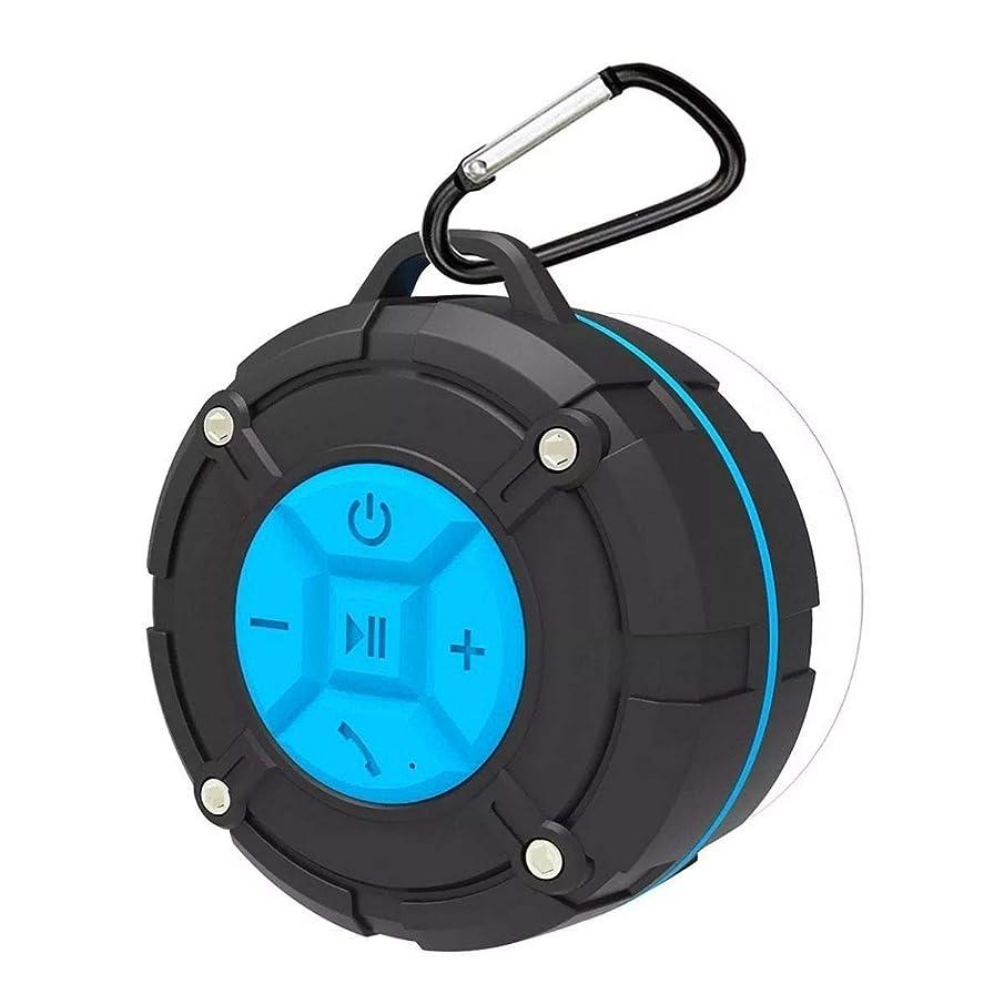 規範健全大惨事YWX JP ミニポータブルワイヤレスBluetoothスピーカーIPX7防水吸盤アウトドア低音スピーカー 専門的に (色 : Blue)