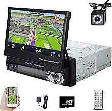 Car Stereo in Dash Single DIN 7 Inch HD Touch Digital Screen Head Unit Support Bluetooth GPS Mirror Link FM USB SD MP5 Han...