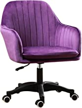 DXZ-Design Home Office Chair, Velvet Computer Desk Chair Vanity Chair with Chrome Legs with Wheels and Lift, Modern Adjust...