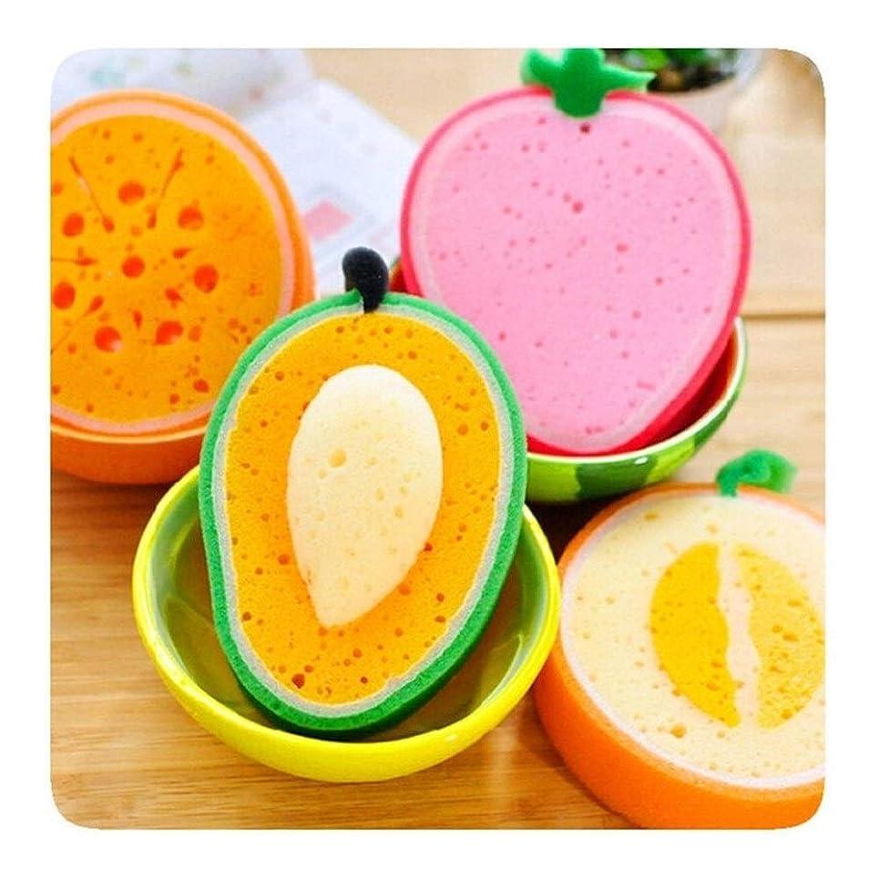 形成カテゴリー用心FELICIAAA 1PCS複数の色のフルーツ入浴綿入浴スポンジフルーツバスボールブラシ浴室キッチン用品?ハウスCleaing (色 : A)
