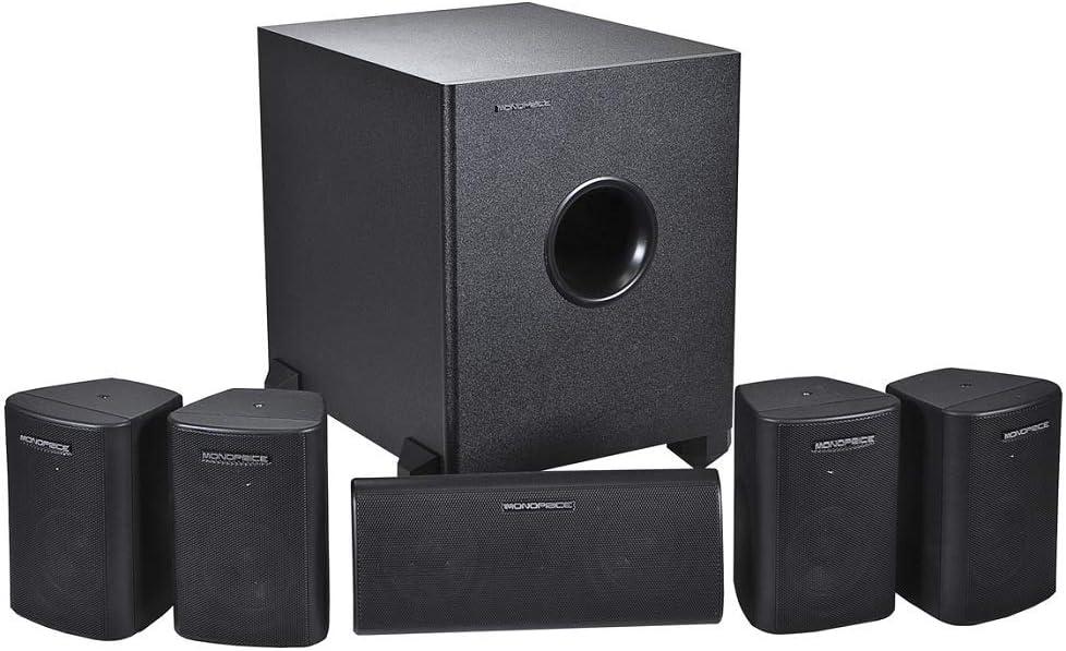5. Monoprice 5.1 Channel Speakers