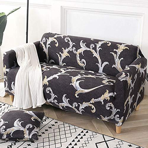 YANJHJY Geometrische Sofabezug Baumwollstretch-Sofabezug Elastische Sofabezüge, für Wohnzimmer Einzelne L-förmige Sofamöbelschutz 1PC, Farbe 18,2, Sitz 145.185 cm