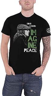 John Lennon T Shirt Imagine Peace Logo Nouveau Officiel Homme