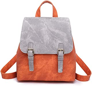 Sturdy Rucksack PU Leather Travel Handbag Women Ladies Backpack Fashion Shoulder Handbag Large Capacity (Color : Gray, Size : 25X15X28cm)