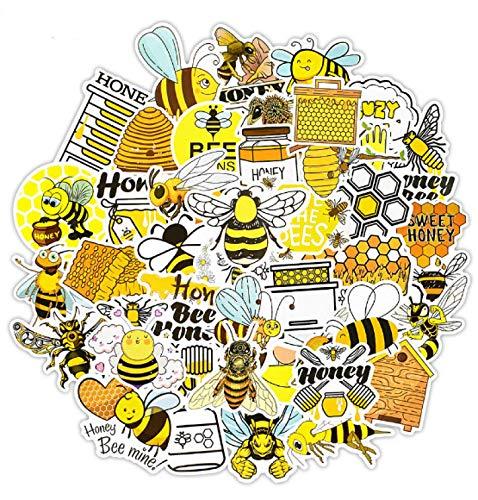 RUIRUI50 PCS Cute Bee Sticker Toys for Kids Gift Cartoon Honey Insect Animal Stickers to DIY Laptop Phone Fridge Kettle Bike Car Decal
