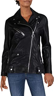 Sponsored Ad - Bagatelle Womens Leather Fall Motorcycle Jacket Black S