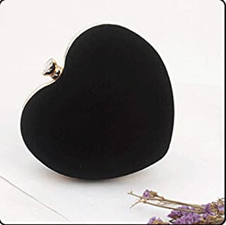 Abendtasche Damen Clutch Herzförmige Schwarz Rot Abendtasche Damen Clutch Geldbörsen Braut Hochzeit Schulter Handtasche Kl...
