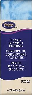 Wrights 117-798-2307 Single Fold Satin Fancy Blanket Binding, 2 by 4-3/4-Yard, Tie-Dye Blue