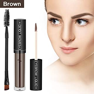 Eyebrow Gel Waterproof Brow Tinted Brow Makeup Long Lasting Eyebrow Liquid Pen with Brush, Brown