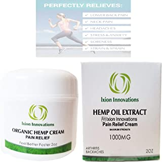 Hemp Pain Cream - 1000 mg - Rub - Ointment - Arnica - Wintergreen - Emu - Camphor - Rosemary - Lanolin - Montana - Menthol - Joint - Ache - Soreness (2)