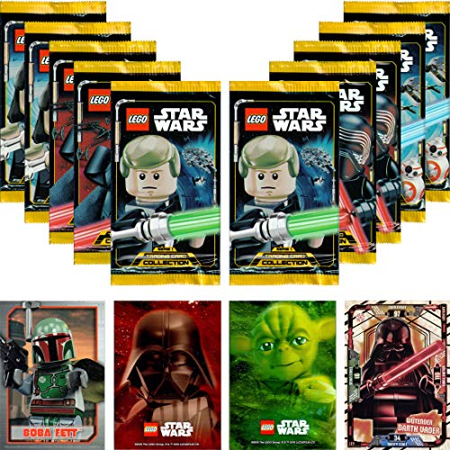LEGO Star Wars Trading Card Collection Serie 1: 10 Booster + Bonus + carta LE (LE11 Wenfadado Darth Vader)