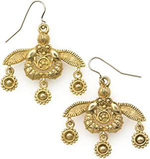 Reproduction of the Greek Minoan Bees Earrings, From Our Museum Collection