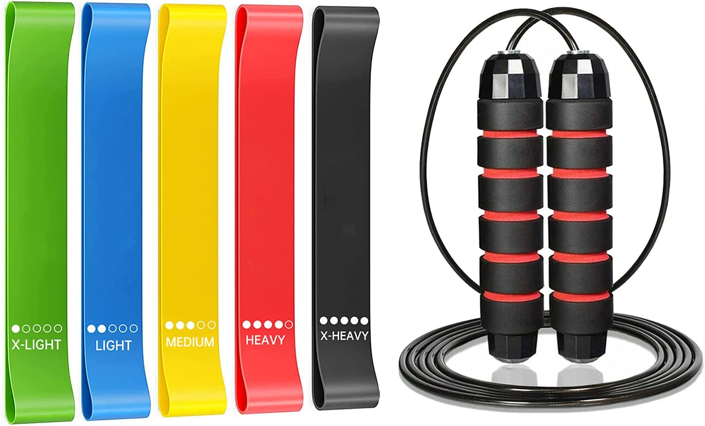 FOIIOE 5Pcs Loop Resistance Max 87% OFF Bands Stretch with 1 PC Pilates Yoga Clearance SALE! Limited time!