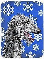 Caroline's Treasures SC9789MP Scottish Deerhound Winter Snowflakes Mouse Pad, Hot Pad or Trivet, Large, Multicolor [並行輸入品]