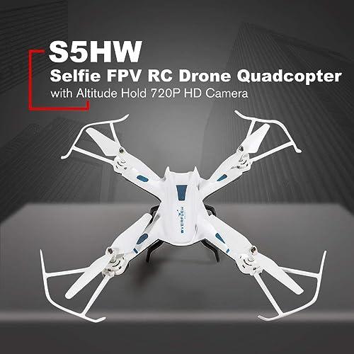 las mejores marcas venden barato WOSOSYEYO S5HW Smart Selfie RC Quadcopter con con con WiFi FPV 720P HD en Tiempo Real Cámara Altitude Hold 3D voltea Aviones no tripulados UAV (blanco)  ventas en linea