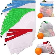 L/éger Sac de Produit Biologique en Coton Sacs /à Grille Sac de Provisions avec Cordon R/ésistant Double Piqu/é Lavable BUZIFU 6 Pcs Sacs R/éutilisable /à Fruits et L/égumes 2*S, 2*M, 2*L