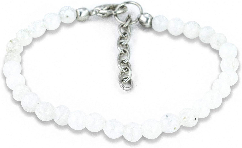Mystic Sales of SALE items from new works Self Moonstone Bracelet - Handmade White Natural Gemstone Detroit Mall