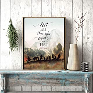 Movie Lord of The Rings Painting Wall Art Nordic HD Print Modern Poster Canvas Modular Picture For Gift Home Decoration 60x80cm unframed