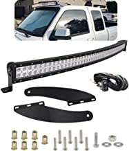 Dasen For 1993-2011 Ford Ranger Upper Winshield Roof Mounting Brackets w/50 Inch 288W Curved LED Light Bar and Wiring Harness