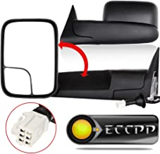 ECCPP Towing Mirrors Replacement fit for 98-01 Dodge Ram 1500 98-02 Ram 2500 3500 Power Heated W/Support Brackets Side View Mirror Pair Set