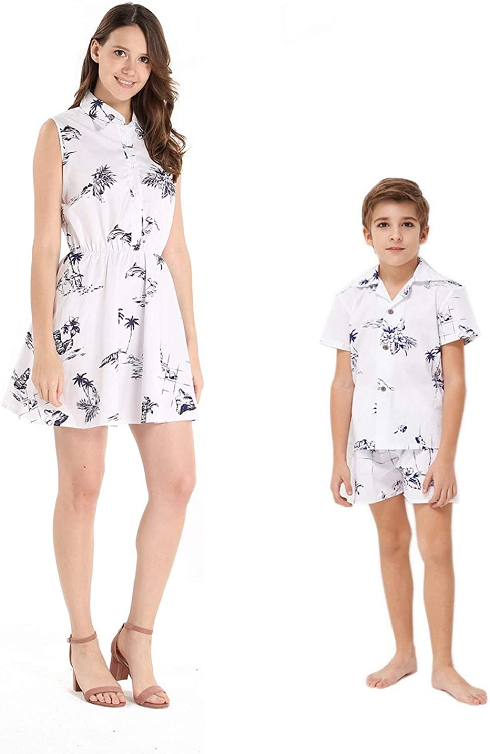sale Matching Inventory cleanup selling sale Mother Son Hawaiian Luau Outfit Shirt Boy Women S Dress