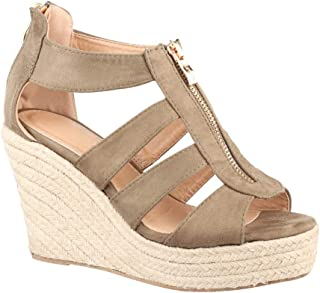 db777f8f56f84b Amazon.fr : Fermeture Éclair - Sandales / Chaussures femme ...