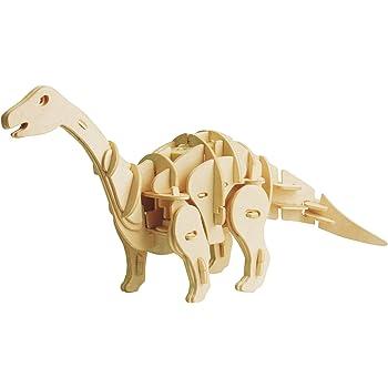 動く木製3Dパズルキット D450 アパトザウルス