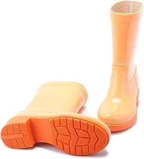 LINGZE Mode de Botte de Pluie légère et Mignonne, Chaussures d'eau mi-Mollet, Chaussures de Protection imperméables en PVC...