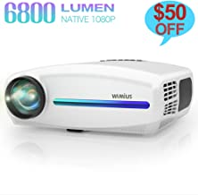 Native 1080P Projector, WiMiUS Upgrade 6800Lux HD Home & Outdoor Movie Projector,..