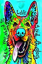 Dean Russo Dog is Love Journal: Great Notebook for School or as a Diary, Lined With 100 Pages