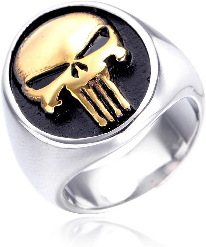 HttKse New products, world's highest quality popular! Gothic Ring Simple Ultra-Cheap Deals Stainless Titanium P Men's Steel