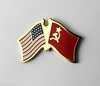 Pin for Jackets - Russia Russian CCCP Soviet Union Combo Flag Lapel PIN BADGE1 INCH - Accessories for Men and Women