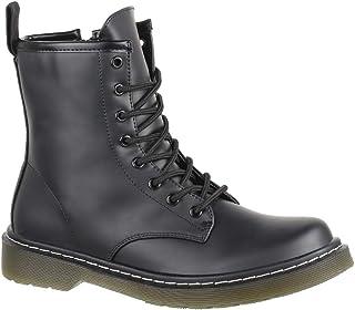 esBota Mujer Militar Para Amazon Negra Cremallera Zapatos xeWorCdB