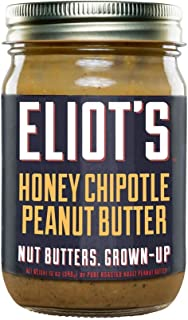 Eliot's Nut Butters Honey Chipotle Peanut Butter, 12 Ounce, Non-GMO, Gluten Free, Keto and Paleo Friendly, 72 grams of Protein