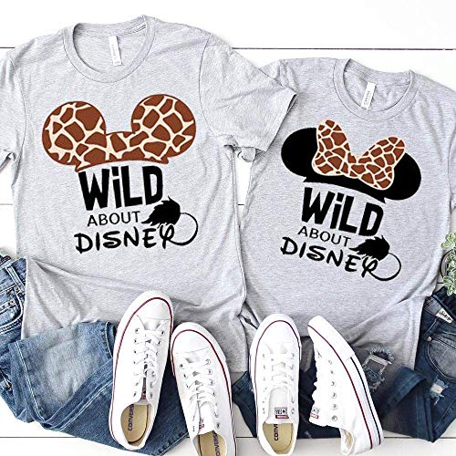 Matching Mickey Minnie Family T-Shirts Animal Kingdom Giraffe Unisex Kids Baby Adult Couples Shirts