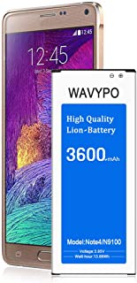 (Upgraded) Wavypo Galaxy Note 4 Battery, 3600mAh Replacement Battery for Samsung Galaxy Note 4 [N910, N910A, N910T, N910(Verizon), N910P] Note 4 Spare Battery [24 Month Warranty]