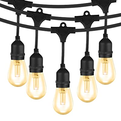 52 Ft LED Outdoor String Light, Waterproof Comm...