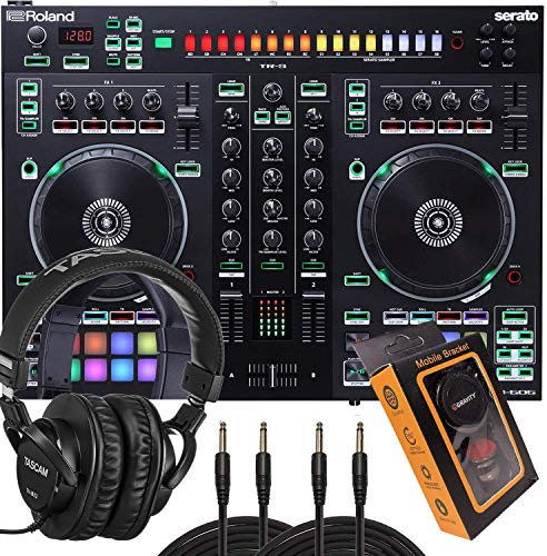 Great Deal! Roland Two-Channel, Four-Deck Serato DJ Controller (DJ-505) with HP2000 Headphone and Pa...