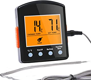 Hotloop Digital Meat Thermometer with Timer Mode Cooking Oven Thermometer with Probe Heat Resistant up to 572°F/300°C